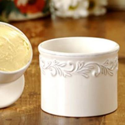 Butter Bell Crocks - White Linen