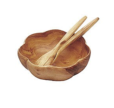 Pacific Merchants Acacia Wood Round Flared Round Bowl