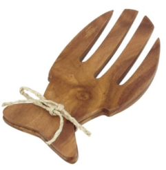 Pacific Merchants Acacia Wood Fish Salad Servers