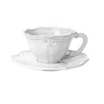 Vietri Incanto Baroque Cup Saucer - White