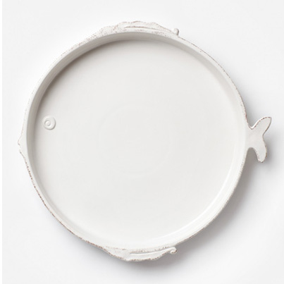 Vietri Lastra Fish Round Platter
