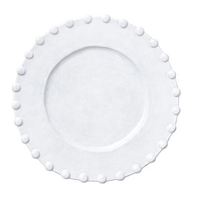 Vietri Incanto White Pearl Border Service Plate Charger