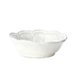 Vietri Incanto White Baroque Dipping Bowl