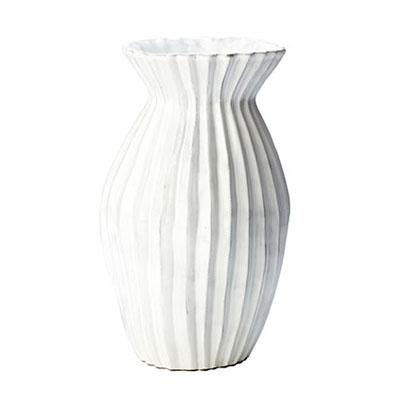 Vietri Incanto White Pleated Small Vase