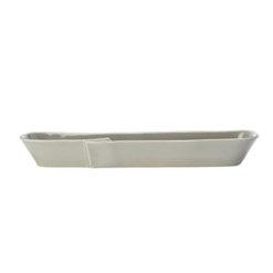 Vietri Lastra Gray Olive Boat