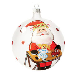 Vietri Old St. Nick With Worktable And Toys Boxed Ornament
