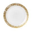 Vietri Ruffle Glass Gold Salad Plate