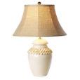 Vietri Tuscan Collection White Button Lamp