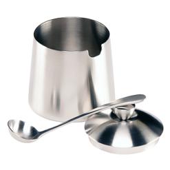 Sugar Bowl w/ Spoon, Brushed Finish, 10 fl. oz.