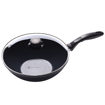 Swiss Diamond Induction Nonstick Wok with Lid - 11 inch