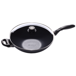 Swiss Diamond Nonstick Wok with Lid - 12.5 inch
