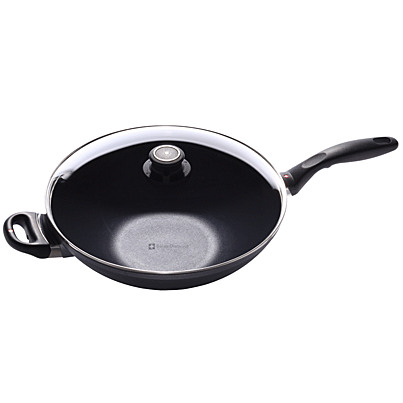 Swiss Diamond Induction Nonstick Wok with Lid - 12.5 inch