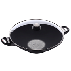 Swiss Diamond Nonstick Wok with Lid - 14 inch