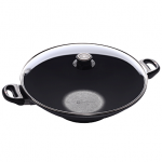 Swiss Diamond Induction Nonstick Wok with Lid - 14 inch