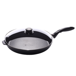 Swiss Diamond Induction Nonstick Fry Pan with Lid - 12.5 inch