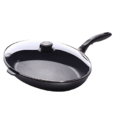 Swiss Diamond Nonstick Oval Fish Pan with Lid