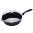 Swiss Diamond Induction Nonstick Saute Pan with Lid - 4.3 qt 11 inch