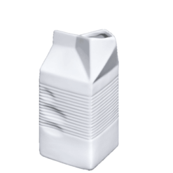 "Porcelain Milk Bag, 17 fl. oz., 2_ "" x 2_"" x 5_"