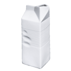 "Porcelain Milk Bag, 22 fl. oz., 2_ "" x 2_"" x 7_"
