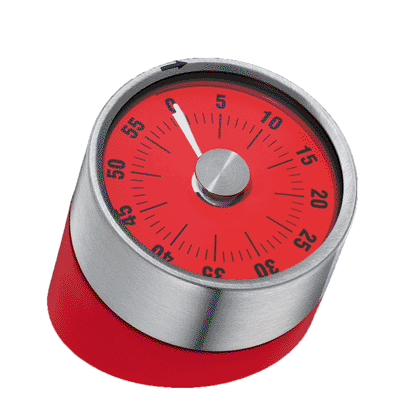 """Kitchen Timer """"Tower of Pisa"""", Red"""
