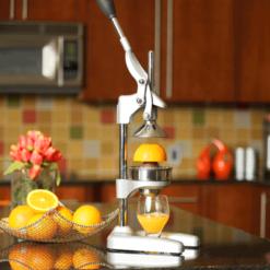 Orange Press Matte Silver on Counter
