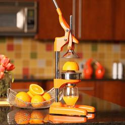 Orange Press on Counter