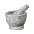 "Mortar & Pestle ""Solomon,"" 3_"" H, White Granite"
