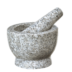 "Mortar & Pestle ""Atlas"", 5"" tall, White Granite"