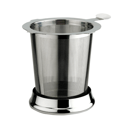 "Medium Infuser with Lid, 3"" tall, 18/8 stainless steel"