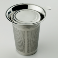 "Large Infuser with Lid, 3 3/4"" tall, 18/8 stainless steel"