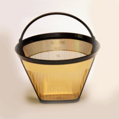 # 4 Cone Coffee Filter, 23 karat gold plated