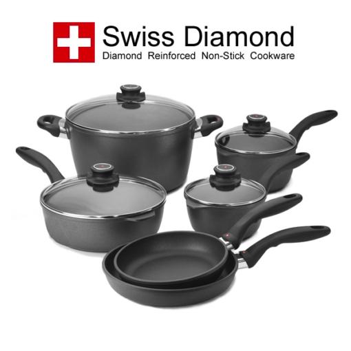 Le Cookery USA Swiss Diamond 10 pc Cookware Set