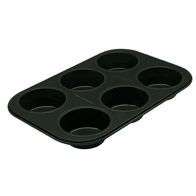 "Muffin Pan, 6 ct., regular, 10"" x 7"", nonstick"