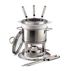 Chantal Brushed Stainless Steel 5 Function Fondue Pot 4