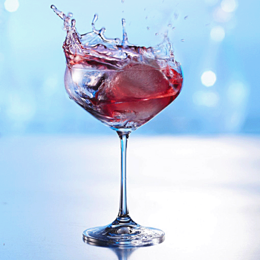 Ice Sphere in Wine