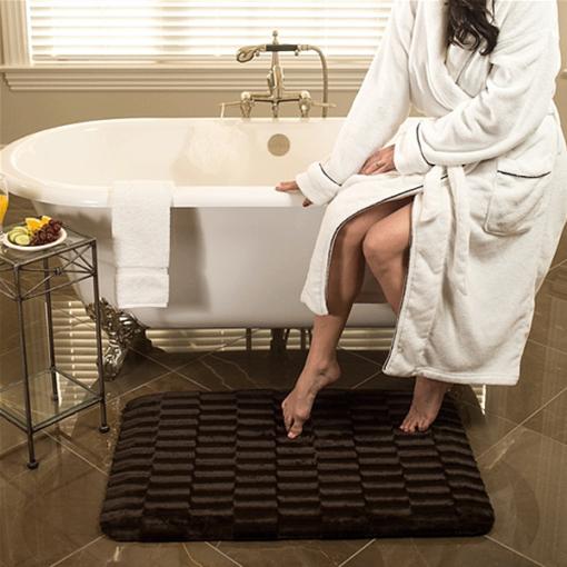 Wellness Mats Sable Seasons Cover Mocha 3x2 Bathroom