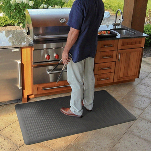 Wellness Mats Maxum Gray Grill 5ft x 3ft