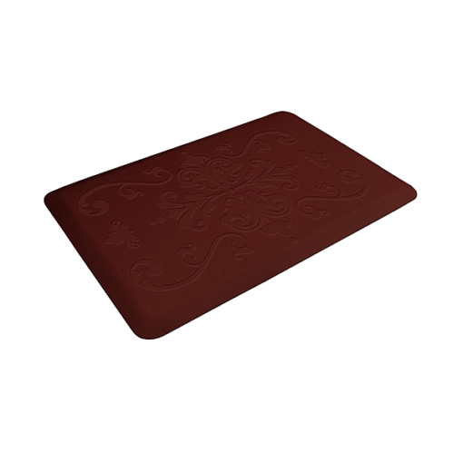 Wellness Mats Motif Entwine Burgundy 3x2 Left