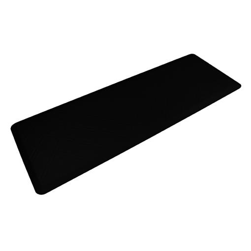 Wellness Mats Motif Moire Black 6x2 Left