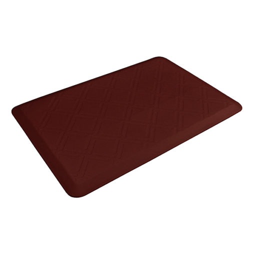 Wellness Mats Motif Moire Burgundy 3x2 Left