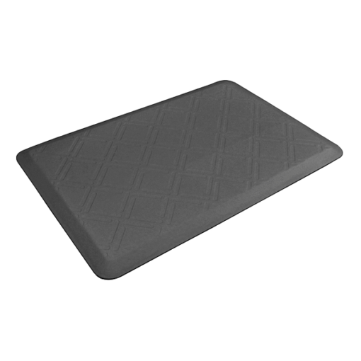 Wellness Mats Motif Moire Gray 3x2 Left