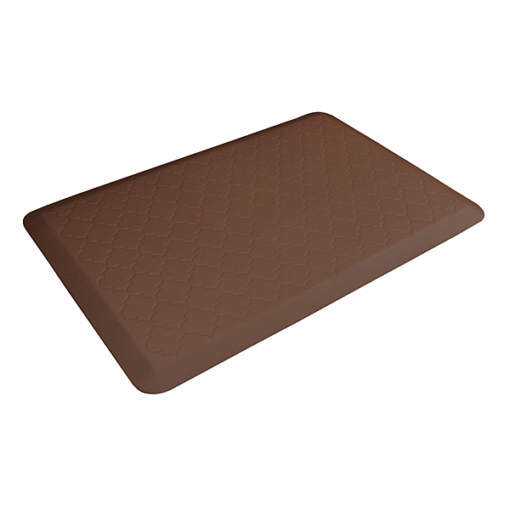 Wellness Mats Motif Trellis Brown 3x2 Left