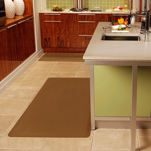 tan mat fatigue l fancy kitchen piece anti cutco by wellness frontgate shaped puzzle related post wellnessmats mats