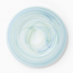 Vietri Alabaster Aquamarine Glass Service Plate / Charger