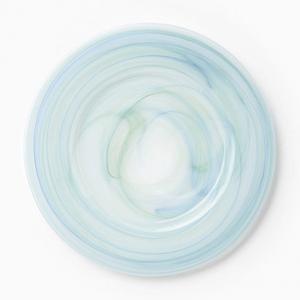 Vietri Alabaster Aquamarine Glass Service Plate / Charger