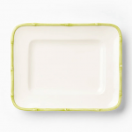 Vietri Bambu Celadon Small Rectangular Platter