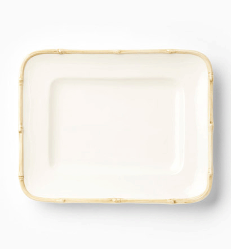 Vietri Bambu Natural Small Rectangular Platter 1