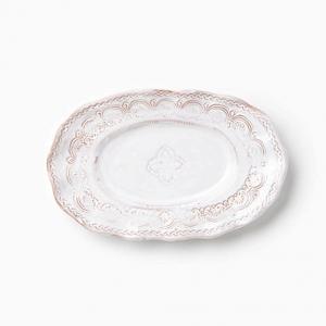 Vietri Bellezza White Small Oval Platter