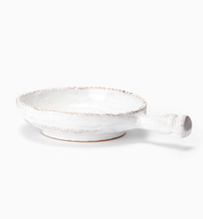 Vietri Bellezza White Small Handled Baking Dish