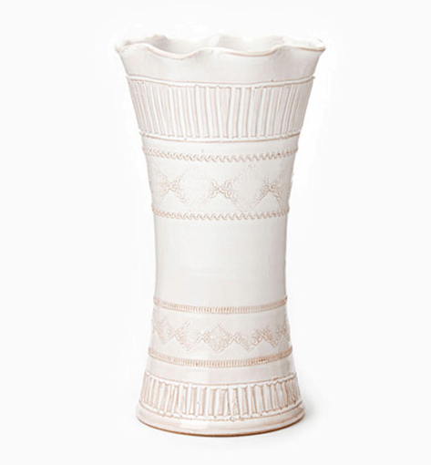 Vietri Bellezza White Large Vase